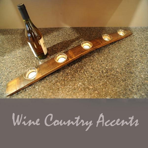Wine Stave Candela Centerpiece