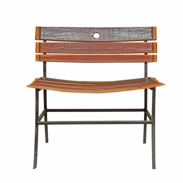 Wine Barrel Stave Bench Napa East