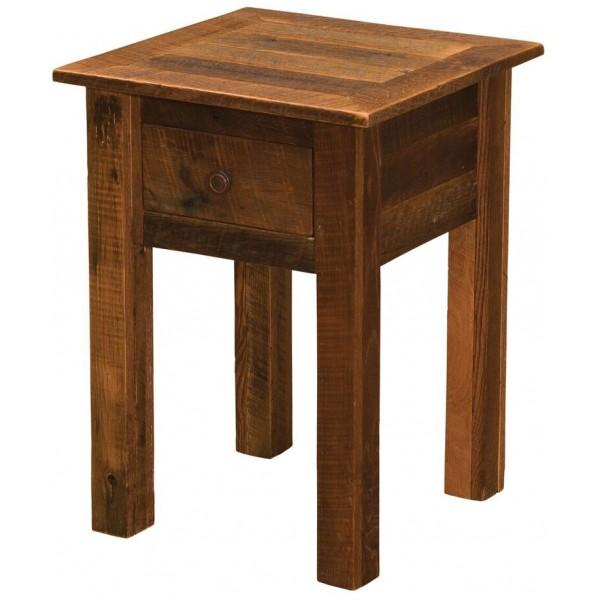 Barnwood Legs One Drawer Nightstand