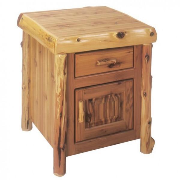 Cedar Enclosed End Table Fireside