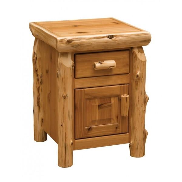 Fireside Cedar Enclosed Nightstand