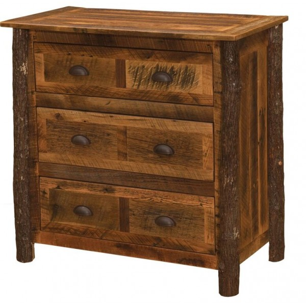 Hickory Legs 3 Drawer Chest