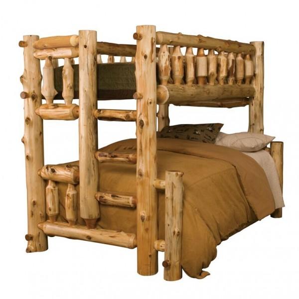 Fireside Lodge Traditional Cedar Offset Bunk Beds