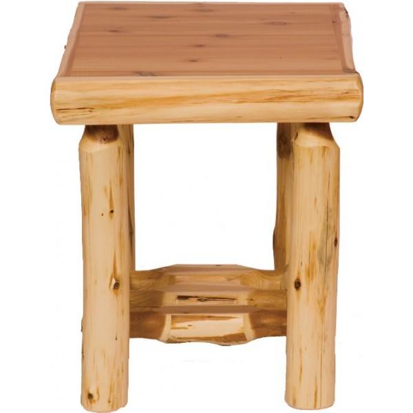 Cedar Open End Table Fireside