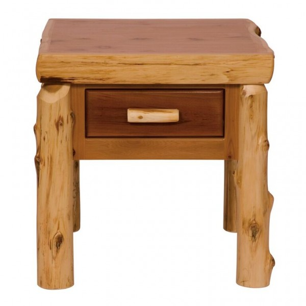 Cedar One Drawer End Table Fireside