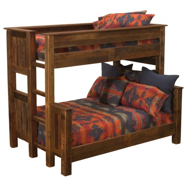 Barnwood Offset Bunk Beds Fireside Beds Wine Country
