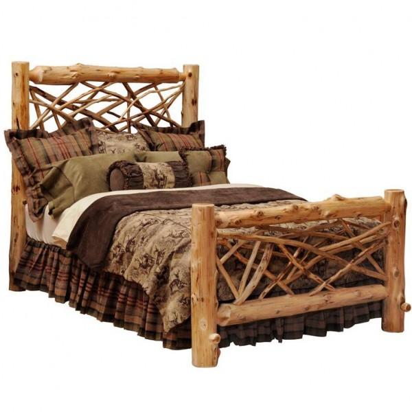 Fireside Lodge Twig Log Bed