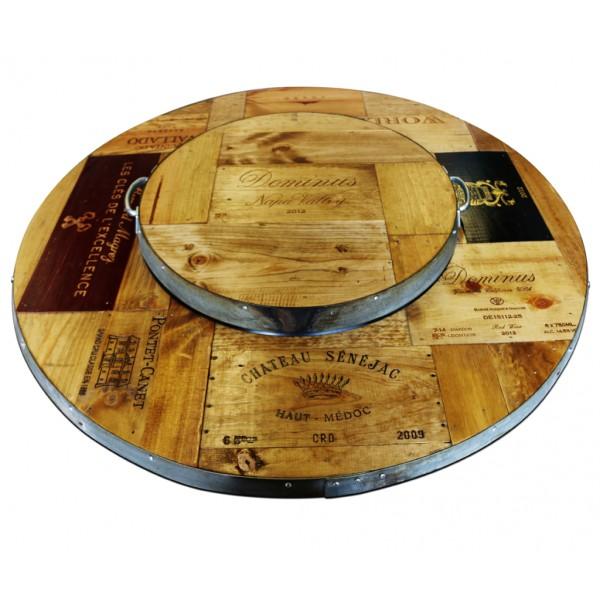 Vintage Wood Tray - Vin De Flame