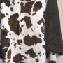 Brown and White Cow Blanket by Denali