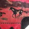 Red Running Horses Throw