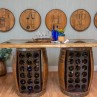 Wine Barrel Storage Bar Table